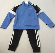 Adidas little boys 2 piece set hoodie and jogger size 5 Navy polyester NWT $58