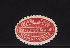 402886/sello de marca-bank-u. lotería-negocio oscar Brauer-Berlín W.