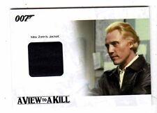 James Bond 2014 Archives JBR33 Max Zorin Jacket costume card 162/400