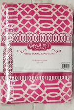 """Deluxe Cushioned Ironing Board Cover & Pad (54"""" board) Pink & White, Wash it up"""