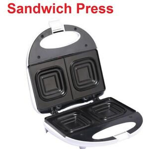 Toasted Sandwich Jaffle Press Square Cooking Plates Non sStick Lock in Lid NEW