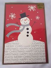 American Greetings Snowman Christmas Cards 24 COUNT New in Box