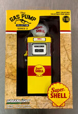 GREENLIGHT VINTAGE GAS PUMP COLLECTION SUPER SHELL STATION 1:18 SCALE FREE SHIP.