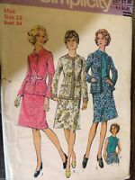 Simplicity sewing pattern no.6074 girls suit size 12 vintage unused