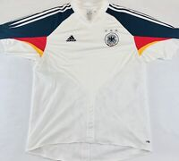 Adidas Germany Futbol Soccer Jersey 2003 White Black XL National Team World Cup