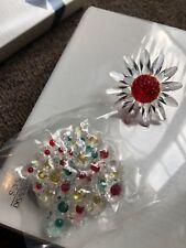 Swarovski Crystal RED MARGUERITE DAISY with MINI FLOWERS **With ORIGINAL Box**