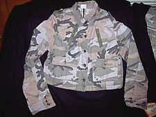 Womens Camo Jacket Sm Button Up Jacket 100% Heavy Cotton Bdu Jacket Camouflage
