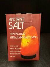 """Ancientâ""""¢ Salt mini natural Himalayan salt lamp hand carved 4 Lbs. New"""