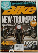 Bike New Triumphs Bonnevilles Rossi Ducati XDiavel January 2016 FREE SHIPPING JB