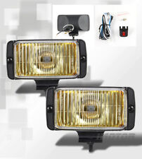 Durable Yellow Lens Fog Lights Amber Driving Lamps w/Switch Bulb Wiring