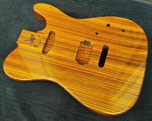 Warmoth USA - Solid Zebrawood Custom Tele Guitar Body - Vintage Tint High Gloss