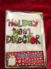 Holiday Meal Director Apron Kitchen Dining Bar Brand new in box one size