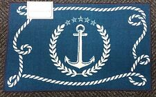 """KITCHEN ACCENT RUG (nonskid back) (17"""" x 28"""") NAUTICAL, ANCHOR with ROPE by EE"""