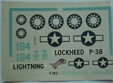 +++ P-38 'LIGHTNING' + 1:72 SCALE DECAL by FROG +++