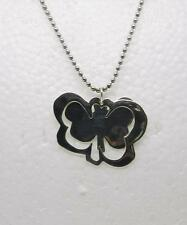 ROBERT LEE MORRIS STERLING SILVER BUTTERFLY NECKLACE SIGNED ANDY WARHOL-LB-C1020