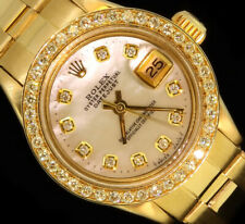 Rolex Lady Datejust 18K Yellow Gold Oyster Diamond Dial Bezel