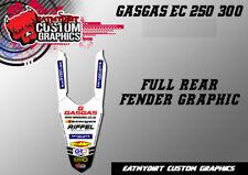 Para GASGAS EC 2012-2017 Completo Guardabarros Trasero Calcomanías Gráficos Pegatinas Motocross MX