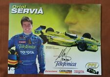 ORIOL SERVIA  AUTOGRAPHED 2000  INDY 500   PHOTO  Data Sheet CART Schedule