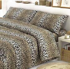 Completo Lenzuola federe MACULATO leopardo Singolo Matrimoniale Piaz Mez Cotone