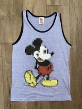 Junk Food Tank Top Mickey Mouse Sleeveless Small Blue Disney Wow!