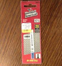 "Vermont American 30075 jigsaw blade 17 TPI cuts iron/metal, 2 3/4"" bi-metal"