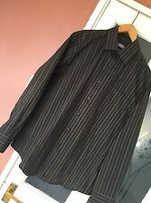 JACK REID easy care Mens Formal Shirt Sz L large 15.5 brown dark purple mix
