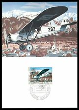 Liechtenstein MK 1979 AEREO PLANE Maximum cartolina MAXIMUM CARD MC cm cv85