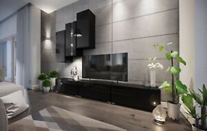 Modern Living Entertainment Wall Unit TV Stand BOXING 5 Gloss - 2 Colours
