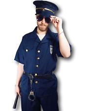 Adulto para Hombre Disfraz de oficial de policía policía policía elaborado vestido de uniforme M/L