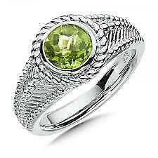 Colore SG Sterling Silver Peridot Ring Sz 7 Retails $195