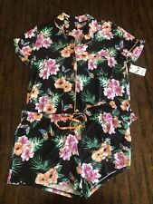 Women's PJ SALVAGE NWT 2-PC Floral Pajamas SZ XL $83.50