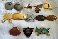 Vintage Curling Pin Lot Royal Bank Charlottetown St Stephen Club Pewter Metal 12