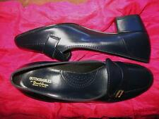 DANIEL GREEN SHOES CLASSIC NAVY BLUE LEATHER LOAFERS !SIZE 7 M /37.5!MADE IN USA
