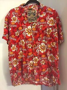 Corona Hawaiian Shirt Mens Size Medium New With Tags