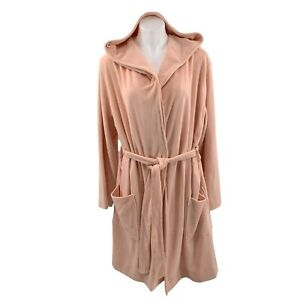 Charter Club Robe XXLarge Peach Orange Terrycloth Cotton Hooded Belted New NWT