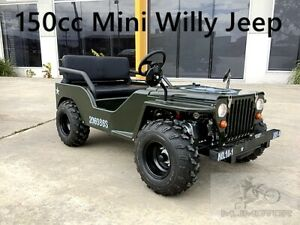 150cc Mini Willy Kart Jeep Buggy 2WD Semi Auto Golf Cart Twin Seat Kids Adults