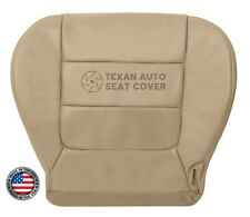 2003 Ford F150 Lariat Super Crew Driver Bottom Synthetic Leather Seat Cover Tan