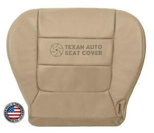 2002 - 2003 Ford F150 Lariat Super Cab Driver Bottom Leatherette Seat Cover Tan
