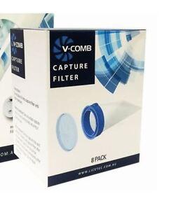 Filter für V-COMB elektrischer Vakuum Läusekamm, Inhalt: 8 Filter