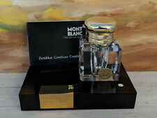 Montblanc Meisterstuck Lead Crystal Inkwell with Stand, Original Box!
