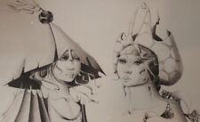 1965 Dessin original Le Moult Les deux muses onirique curiosa surréalisme