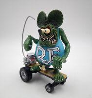 Custom Green Rat Fink Roth Ed 10Pcs Pendant Toy Big Daddy Head Action Figure