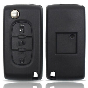 Car Remote Key Case Shell Replacement For Peugeot 308 3008 5008 3 Button HU83
