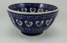 Bunzlauer Keramik Schale, Müsli, Teeschale, Schüssel, Herzenmuster (C018-DSS)