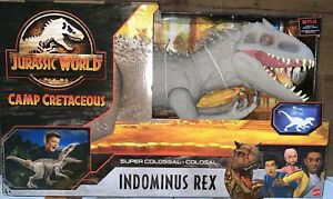 MATTEL Jurassic World Camp Cretaceous super Colossal Indominus Rex XL Dinosaur