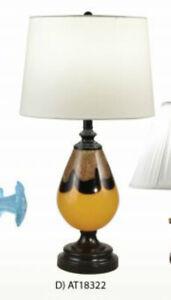 Dale Tiffany Art Glass Lamp Metal Crystal Ebony Black Table Light AT18322 MINT