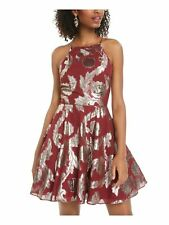 CITY TRIANGLES Womens Maroon Sleeveless Mini Fit + Flare Party Dress Juniors 11