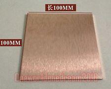 """1x W-CU Tungsten 80% Copper 20% Alloy Plate Electrode 8mm x 100mm x 100mm 4"""" x4"""""""