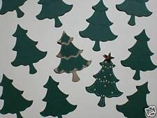 30 x Sizzix Small Green CHRISTMAS TREE Die-cuts Crafts / Cardmaking
