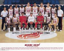 1988-89 MIAMI HEAT INAUGURAL FIRST TEAM NBA BASKETBALL 8X10 PHOTO
